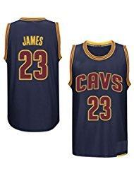 nbcsport Hombre de camiseta, auténtica Cleveland Cavaliers de King 23LeBron James, marineblauer Camiseta de baloncesto, hombre, azul marino