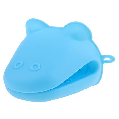 Ofenhandschuhe, hitzebeständige Handschuh aus Silikon, 9 x 10,5 x 8,5 cm - Blau ()