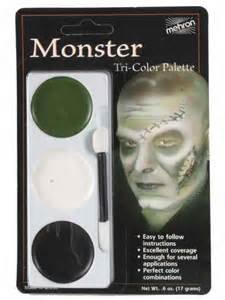 (Monster) - Tri-Colour Palette - Monster Body And Face Paint (Für Body-paint Halloween Black)