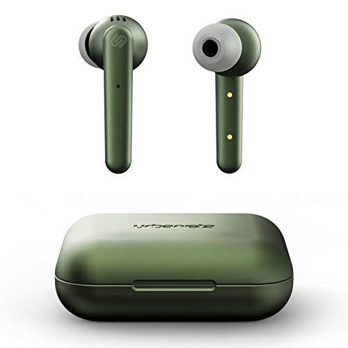 Ecouteurs sans Fil Urbanista Paris True 20H d'écoute sans Fil, Bluetooth 5.0, Ecouteurs avec Réduction du Bruit, Commandes Tactiles + Micro Intégré, Compatible avec Android et iOS - Vert