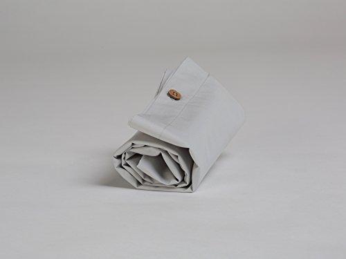 Yumeko Bettwäsche - Kissenbezug - Perkal Baumwolle - 40x80 - Misty Grey - Grau - fest, glatt & knisternd - 100% biologische Baumwolle - ökologisch - atmungsaktiv - Hotelqualität