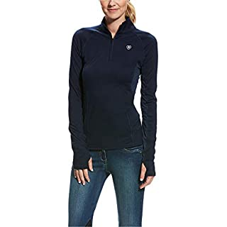 Ariat Lowell 2.0 Quarter Zip Womens Top Small Navy