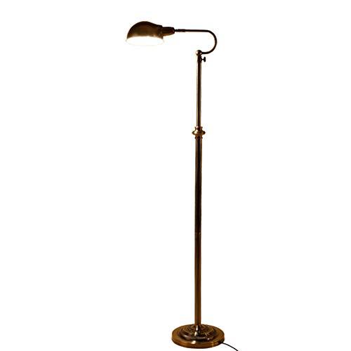 Stehlampe, Retro Bronze Wohnzimmer Schlafzimmer LED vertikale Tischlampe. -