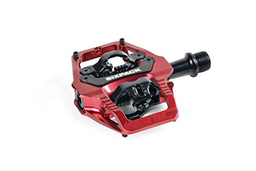 Sixpack Vertic Trail Q-Factor Pedale, rot, 52.5mm -