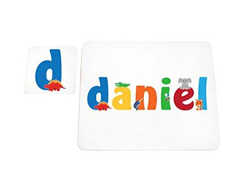 Little Helper lhv-daniel-coasterandplacemat-15it Untersetzer und Platzsets mit Poliert, Individuelle Jungen Name Daniel, mehrfarbig, 21x 30x 2cm