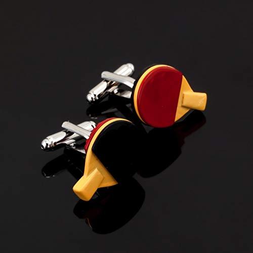 XKSWZD schmuck Sport männer schwarz rot tischtennisschläger manschettenknöpfe Hemd manschettenknöpfe