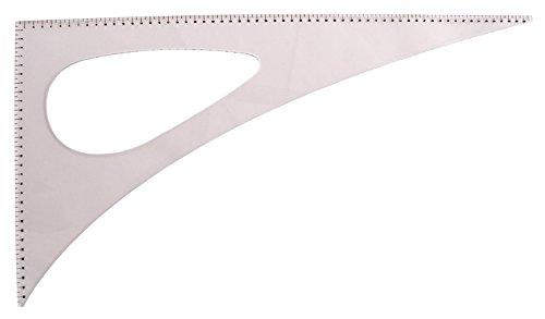 Regla de costura. Cartabón sastre 60*30 cm. Con curva - Regla de patronaje (sastrería y modistería)