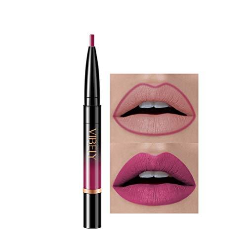 Kltipeng Double-end Lasting Lipliner Waterproof Lip Liner Stick Pencil 16 Color(P)