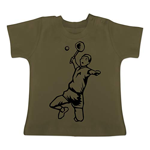 on Schmetterball - 1-3 Monate - Olivgrün - BZ02 - Baby T-Shirt Kurzarm ()