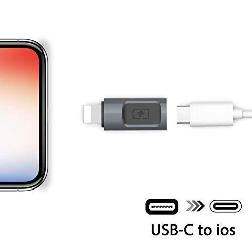 Stouchi iOS zu USB C Adapter, Typ C (weiblich) zu iOS (männlich) Adapter USB C Konverter Ladegerät 5V, 2,4A Schnellladung Kompatibel mit iPad, iPhone X / 8/7 Plus / 6 Plus / 5 / 5S