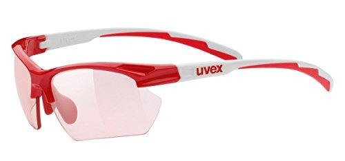 Uvex Sportstyle 802 Small V - Gafas de ciclismo unisex, color rojo / blanco, talla Ăşnica