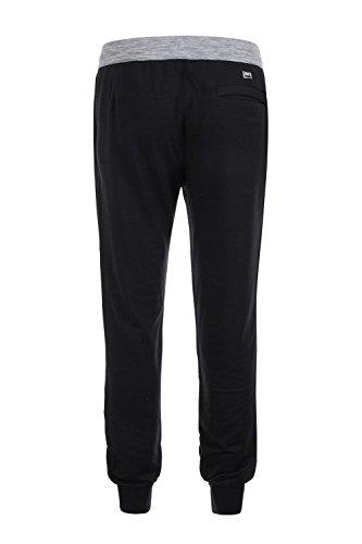 super.natural Herren M Comfort Pants Merino Jogginghose Jet Black/Ash Melange