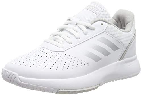 Adidas COURTSMASH, Zapatillas de Deporte para Mujer, Blanco Ftwbla/Plamat/Gridos 000, 38 2/3 EU