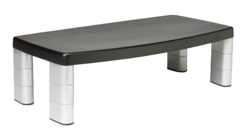 3M Adjustable Monitor Stand, 50.8 x 30.48 x 14.9 cm - Black/Silver