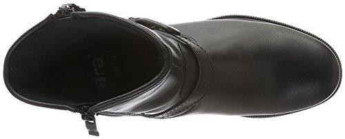 ara Damen Kansas-St-Gore-Tex Biker Boots Schwarz (schwarz 01)