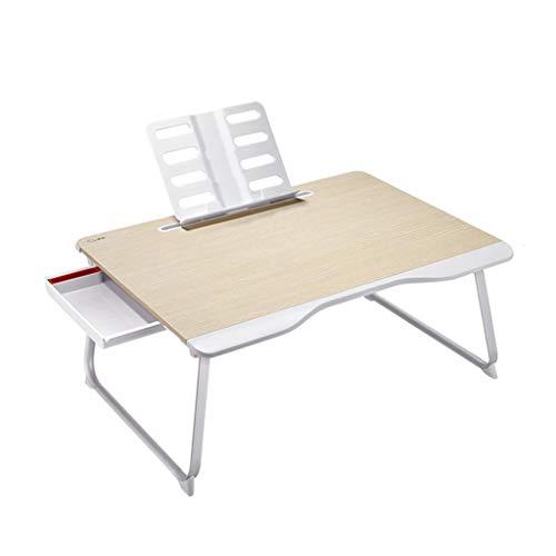 QFF-Computertisch Bett-Studie-Tabelle, Büro-Studie-Laptop-Tabelle-kleines Fach-Kind-Esstisch-Studie-Tabelle Faltbarer Tisch mit Buch-Stand Schreibtisch (Color : A, Size : 65 * 49 * 30CM) - Stil Kinder Panel-bett