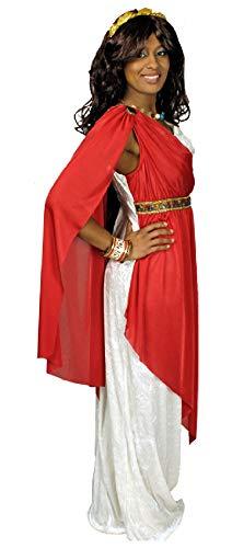 narrenkiste K31250588-44-46-A weiß-rot Damen Römer Kostüm Römerin Toga ()