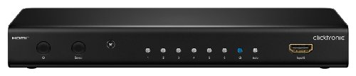 Clicktronic Advanced HDMI Switch (6 IN/1 OUT, Full HD, 3D-TV)