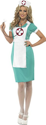 Smiffys Krankenhaus Fancy Party Scrub Krankenschwester Kostüm Damen komplett Club & Party Wear