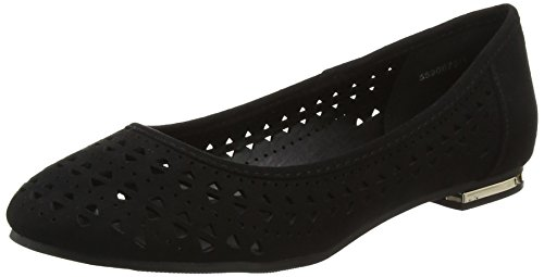 New Look Lazmina, Ballerine Punta Chiusa Donna Nero (Black 1)