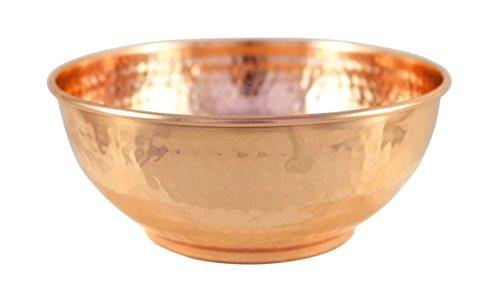 Premium Chef Qualität Kupfer gehämmert Rührschüssel-100% Pure dickem, Kupfer-Vintage Look Schale aus Metall für Ihre Küche-19,1cm Durchmesser Quart QT Größe -
