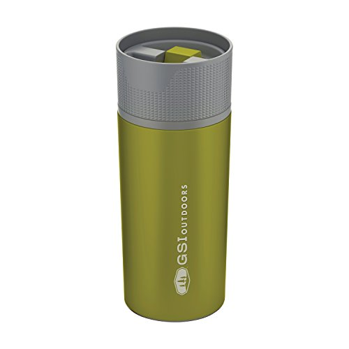 GSI Outdoors Stainless Vacuum Coffee Mug Pot, Mixte Adulte, Green, Taille Unique