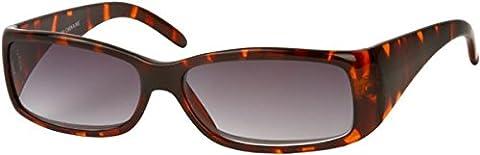 +1.50 Reading Sunglasses, Tortoise Brown Frame, Full 100% UV Protection Gradient Smoke Black Lens, Men Women Unisex +1.5 Prescription