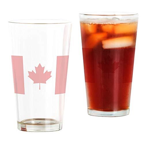 CafePress Pint-Glas mit Flagge von Kanada durchsichtig