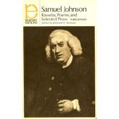 Rasselas, Poems and Selected Prose by Samuel Johnson (1972-01-10)