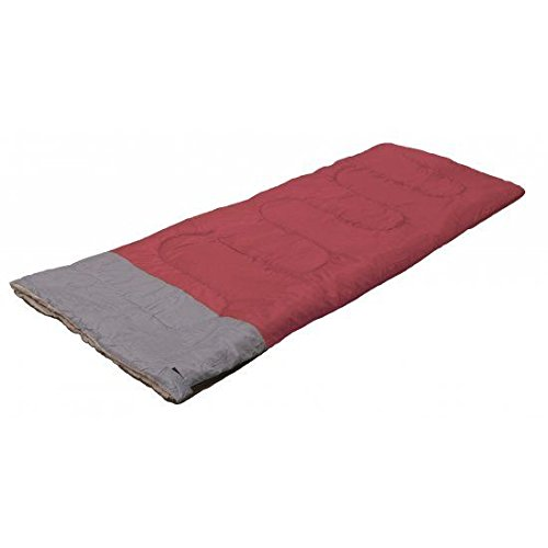 SINGLE SLEEPING BAG ADULT SIZE 190 X 75 CM FESTIVAL CAMPING CARAVAN KEEP WARM ZIP CARRY BAG (REDGREY)