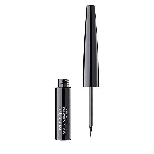 Schwarzer Eyeliner (Misslyn Dramatic Eyeliner Waterproof Nr.1 black, 4.5 ml)