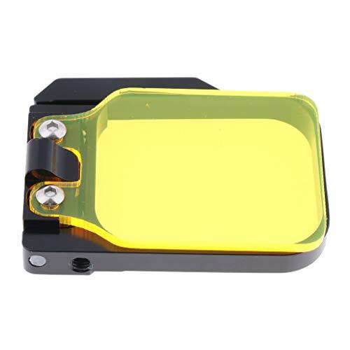 H HILABEE Unterwasser Meer Objektiv Tauchen Filter Flip Filter Für GoPro Hero 3 Kamera Gelb (Flip-kamera Unterwasser)