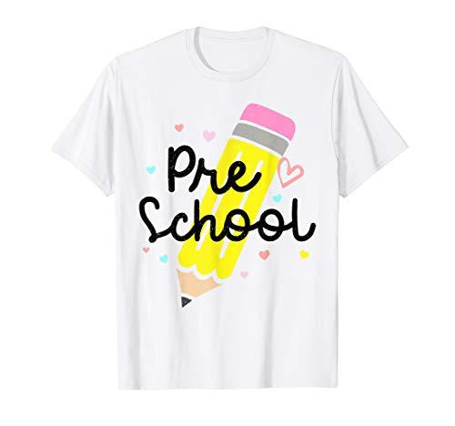 Pre K Zurück zum ersten Schultag Lehrerin Mädchen T-Shirt (Lehrerin-kostüm Für Kinder)