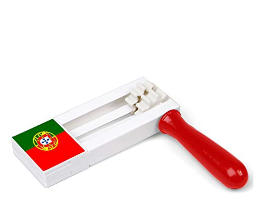 Atosa-24476 Atosa-24476-Carraca Matraca Portugal 15X17X2 cm-Mundial De Fútbol Y Deportes, Color Verde y Rojo (24476)
