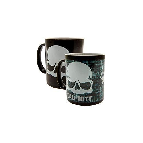 uty, Schädel, wärmeempfindlicher Kaffeebecher, Keramik, Verschiedene, 15x 10x 15cm ()