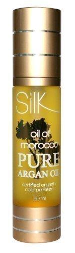 SILK OIL OF MAROCCO - Huile D'Argan Pur du Maroc 50ml pour Cheveux et Peaux
