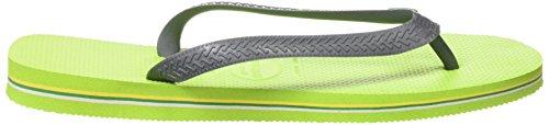 Havaianas Brasil Logo, Infradito Unisex – Adulto Verde (Lime Green/Grey 3650)