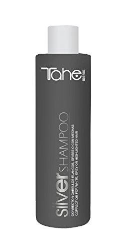 Tahe Silver Champú Corrector Del Tono No Químico para Cabellos Blancos, Grises o con Mechas, 300 ml