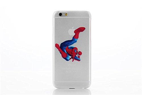 Cas de l'iPhone 6S couvercle / transparente de gel des personnages de dessins animés pour Apple iPhone 6s 6 / protecteur d'écran et un chiffon par iCHOOSE / Tigrou Araignée coup