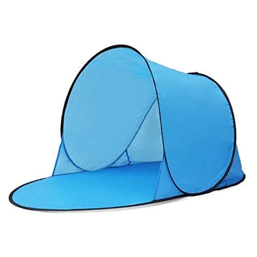 Skipo Tienda de campaña Impermeable Playa, Camping, protección UV, refugios para la Playa y el Sol, Color Azul, tamaño 142 x 72 x 60CM, 17.72 x 17.72 x 1.18inches