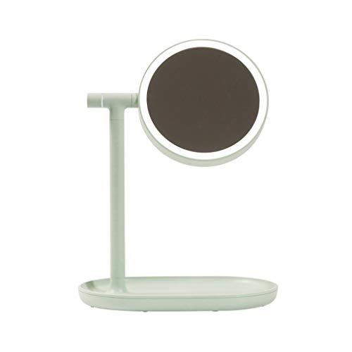 Grün-desktop-speicher (STERY Flip Kosmetikspiegel, kreative LED-Licht Ladeschreibtischlampe, Mädchen Kosmetikspiegel Tischlampe Desktop-Speicher (Farbe : Grün))