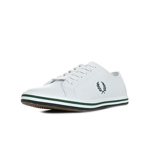 Fred Perry Kingston Herren Weiß/Ivy Leder Sneakers-UK 9 / EU 43