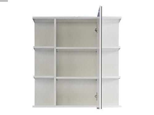 Badezimmer Schrank – Weiß Hochglanz 68 cm - 2