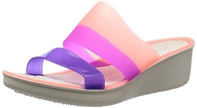 Crocs ColorBlock Wedge W Women Slip on W10 [Apparel]_200031-6KM-W10