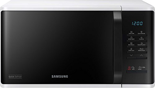 Samsung MS23K3513AW/EG Solo Mikrowelle / 23 L / Membran / Keramik Emaille Innenraum / Quick Defrost / weiß