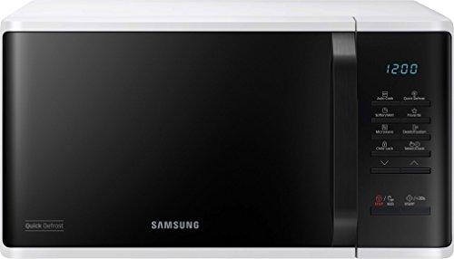 Samsung MS23K3513AW/EG Mikrowelle / 800 W / 23 L Garraum / 48,9 cm Breite / Quick Defrost / 29 Automatikprogramme / weiß