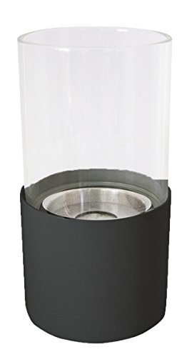TECNO AIR SYSTEM Torcello Innenraum Portable Fireplace schwarz Bio Ethanol-Kamin (106mm, 106mm, 206mm, 900g)
