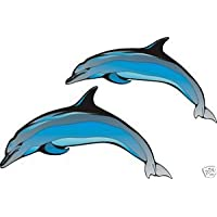 Smarts-Art-2for Decorating Tiles Bath or Walls, Stickers Dolphins Jumping