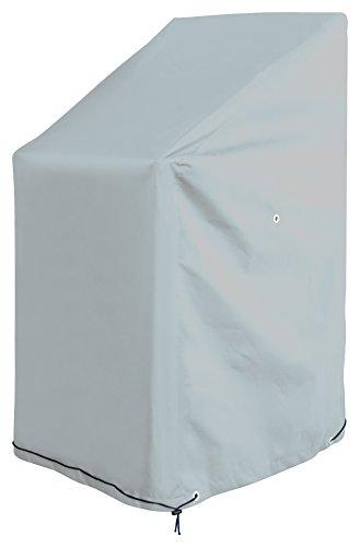 GardenMate® Oxford Polyester Schutzhülle für Gartenstühle 65 x 65 x 80/120 cm - GLETSCHERGRAU - Premium Qualität aus hochwertigem 220GSM Oxford Polyester Material
