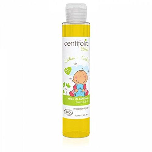 CENTIFOLIA - Baby Massageöl - Hypoallergen - 100% natürlich - Ohne Alkohol und ätherische Öle - Zertifiziert Organisch - 100 ml -